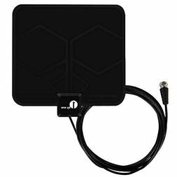 1 by One Paper Thin Indoor HDTV Antenna Model BLACK  SHELF P