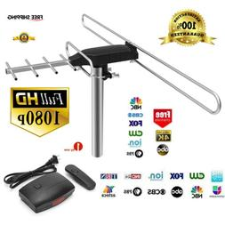 1Byone 100 Mile 360 Rotor 1080P Outdoor Amplified Antenna Di