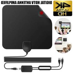 50 miles TV Antenna Indoor Outdoor HDTV Free HD Digital Chan