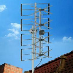 100Mile HDTV 1080P Outdoor Amplified TV Antenna UHF VHF for
