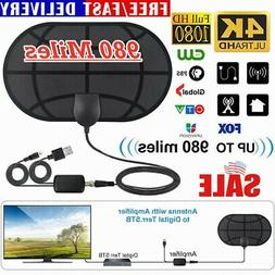 1080P 4K Digital TV Antenna 980 Miles Range Signal Booster A