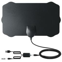 120 Miles Indoor Digital HD TV Antenna With Signal Amplifier