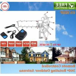 150 Mile HDTV Outdoor Amplified 1080P TV Antenna Digital UHF
