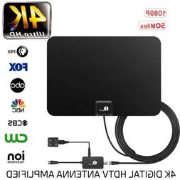 1byone Amplified TV Antenna Digital Indoor HDTV High Gain 50