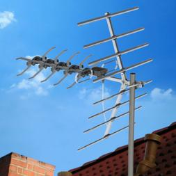 200 Mile Outdoor TV Antenna Satellite Amplified HDTV UHF Dig