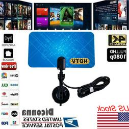 200Mile 1080P HD Digital Indoor Amplified TV Antenna HDTV wi