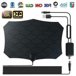 240 Mile Outdoor TV Mini Antenna Motorized Amplified  Digita