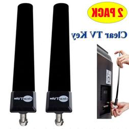 2x Clear TV Key HDTV Free TV Stick Satellite Indoor Digital