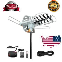 300 Mile HDTV 1080P Outdoor Amplified Digital Antenna 360 Ro