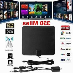 350 Miles Clear Indoor Digital TV HDTV Antenna  UHF/VHF/1080