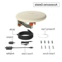 360° Omni-Directional Outdoor Amplified TV Antenna HDTV 108