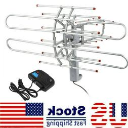 360° Rotation 180 Mile Outdoor TV Antenna Motorized Amplifi