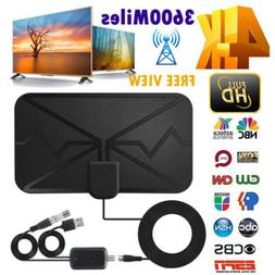 3600 Miles TV Antenna Upgraded Newest HDTV Indoor Digital Am