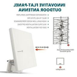 Antop AT-413B Amplified Indoor/Outdoor TV Antenna 65 Mile 4G