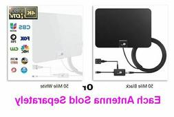 50 Mile Range Amplified HDTV Antenna Detachable Amplifier US