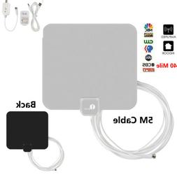 1byone 40-Miles TV Antenna Indoor HD TV Digital Signal Ampli