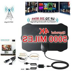 5000 Mile Range HDTV Antenna 4K HD Indoor Digital TV Aerial
