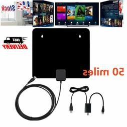 50Mile Range Antenna TV Digital HD 4K Digital Indoor HDTV 10