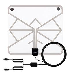 Wsky 60-100 Miles Transparent Digital HDTV Antenna - Best HD