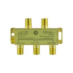 GE Pro Digital 4-Way Coaxial Splitter, Works with HDTV, Ampl