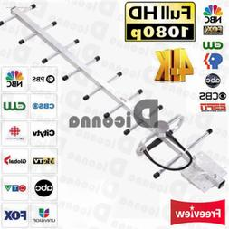 900-1800 MHZ 200MILES OUTDOOR TV ANTENNA AMPLIFIED HDTV HIGH
