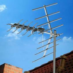 990 Mile Outdoor TV Antenna Amplified HDTV UHF Digital Signa