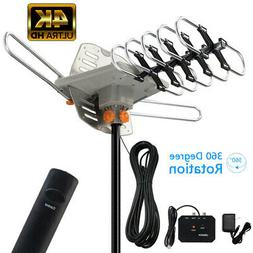 990 Mile Outdoor TV Antenna Motorized Amplified V/UHF HDTV 1