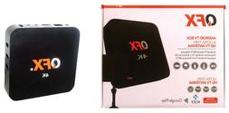 QFX ABX-10 Android TV Box with HD Indoor Antenna & Remote Co