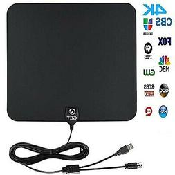 Amplified Digital HDTV Antenna 50~90Mile Long Reception Rang