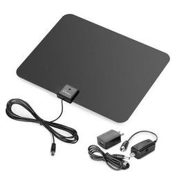 Viewtv Amplified HDTV Antenna with 50 -Mile Range - Black -A