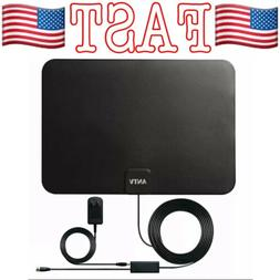 ANTV Indoor TV Antenna, 50 Mile Long Range Amplified HDTV An