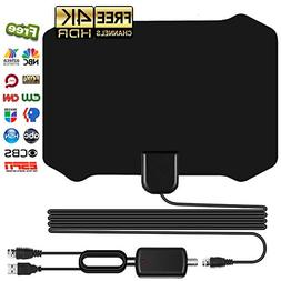 Antenna for Indoor, Amplified HD Digital TV Antenna with 120