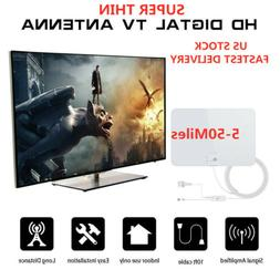 1byone Antenna Digital HD TV Amplified Mile Ultra Thin 5-50M