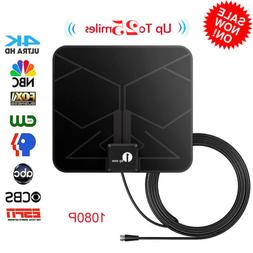 1byone Antenna Digital HDTV Amplified Mile Ultra Thin 25 Mil