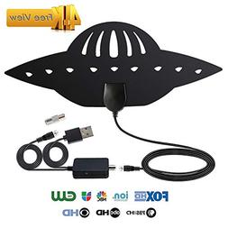 BEESCLOVER Digital Antenna TV HDTV 200 Miles Long Range HQ H