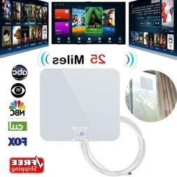 Best Indoor TV Antenna FM UHF VHF 1080P HDTV 16ft Cable 25 M