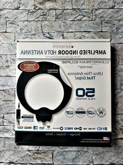 clearstream eclipse amplified indoor hdtv antenna 50