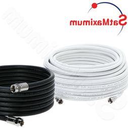 Coaxial TV Antenna Cable Extension Coax HDTV Wire Double Shi