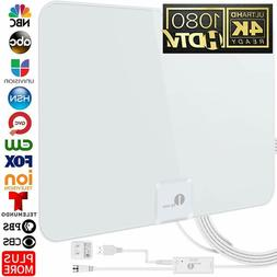 1byone Digital Amplified Indoor HD TV Antenna 50-85 Miles Ra