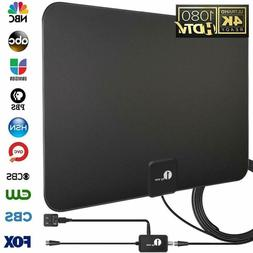 1byone Digital Amplified Indoor HD TV Antenna Up to 80 Miles