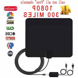 Digital amplifier Antenna 300 Mile HDTV signal plane satelli