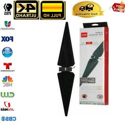 Digital HD TV Rabbit Ear Antenna with Booster Knob Control