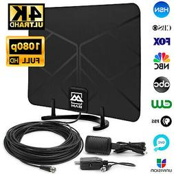 Digital HDTV Antenna Amplified Indoor HD TV 60-Mile 1080p 4K