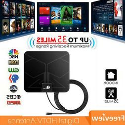1byone Digital HDTV TV Antenna 1080P HD Indoor Flat Antenna