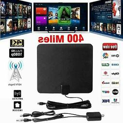 Clear Indoor Digital TV HDTV Antenna  UHF/VHF/1080p 4K