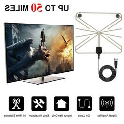 Flat Clear Satellite Digital Amplified Booster Free HDTV 108