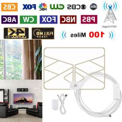 1Byone HD TV Antenna 1080P HDTV Digital 50 Miles Indoor with
