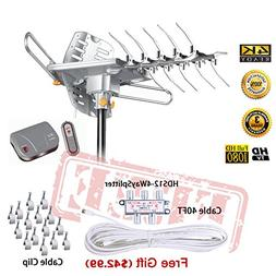 LAVA HD2605 Outdoor HD TV Antenna Remote Controlled Rotation