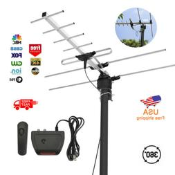 HDTV 1080P Outdoor Amplified Digital Antenna 360 Rotor 1Byon