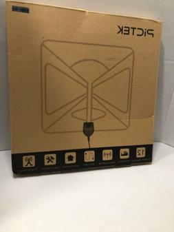 PICTEK HDTV Amplified Antenna BLK 50 Miles With Signal Boost